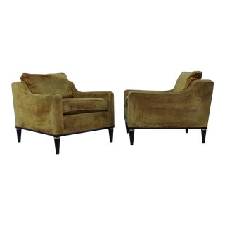 1950s Vintage Modern Low Back Lounge Chairs - A Pair