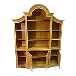 Ethan Allen French Country Pine Hutch Cabinet