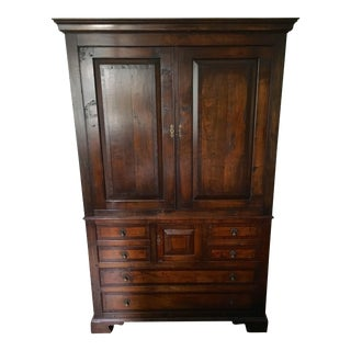 Reproduction Inlaid Cherry Linen Press