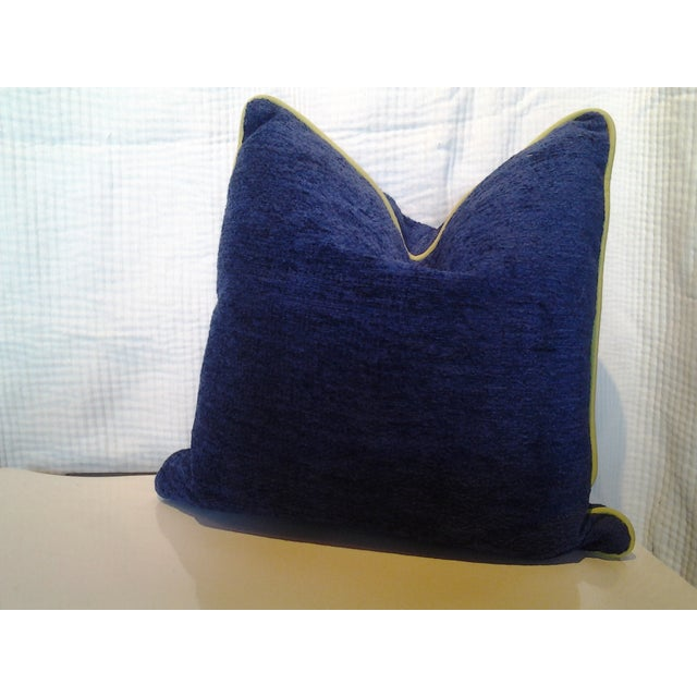 Robert Allen Custom Cobalt Blue Pillow - Image 2 of 4