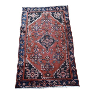 Vintage Hand Knotted Persian Rug - 4′ × 7′