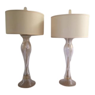 Steve Jensen Collection Murano Glass Lamps - A Pair