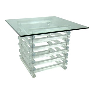 Stacked Lucite Side Table