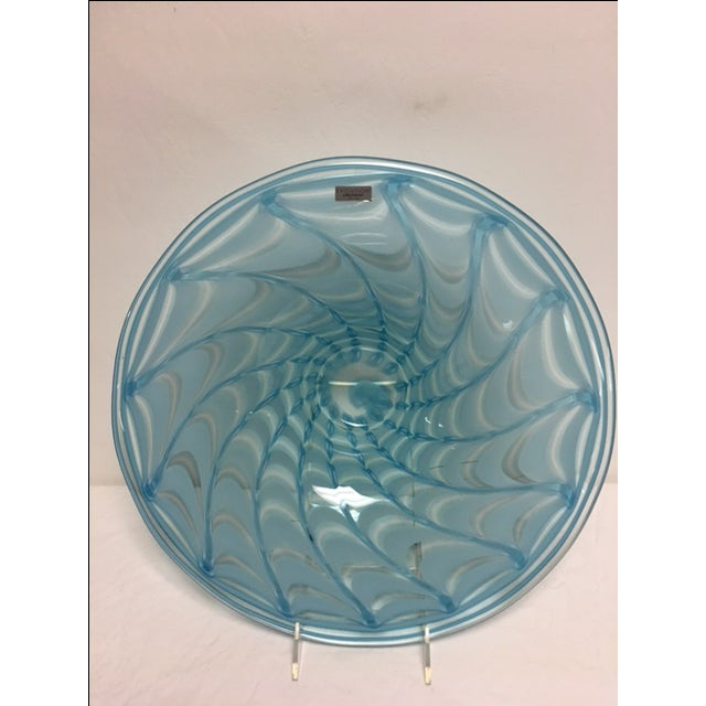 Image of Waterford Evolution Aqua Art Glass Bowl