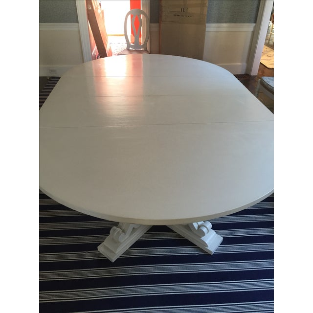 White Dining Table with Two Leaves - Image 4 of 6