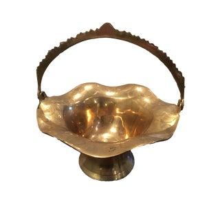 Vintage Brass Bowl Basket