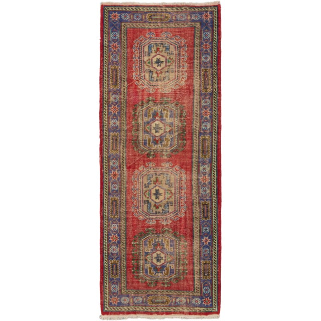 "Image of Melis Turkish Overdyed Rug - 4'6"" X 11'7"""
