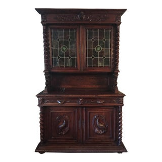 Antique Black Forest Carved Buffet