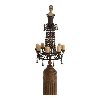 Wood Column Wood Pedestal French Doll Candelabra