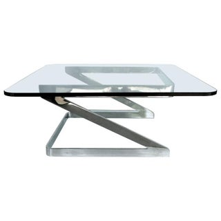 Gary Gutterman Polished Steel Cantilevered Coffee Table