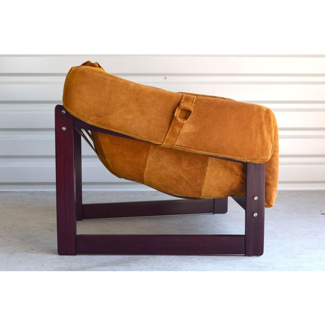 Percival Lafer Brazilian Rosewood & Suede Lounge Chairs - A Pair - Image 3 of 11