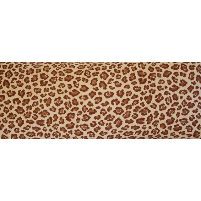 Leopard Velvet Lumbar Body Pillow - Image 5 of 8