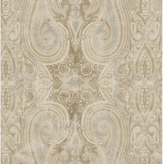Birchwood Paisley Lichen Fabric by Ralph Lauren