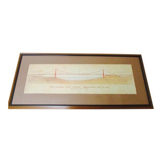 San Francisco Golden Gate Bridge Framed Art