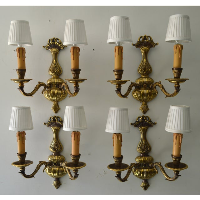 French Boudoir Sconces - Set of 4 - Image 2 of 8