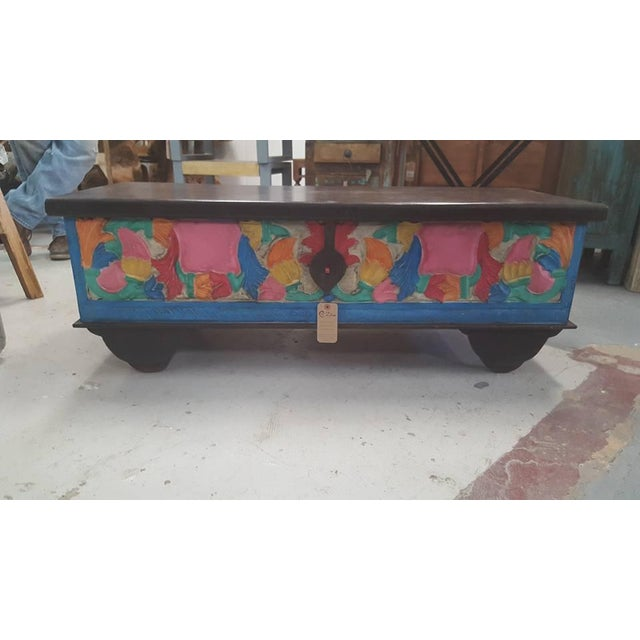 Colorful Wooden Chest - Image 2 of 4