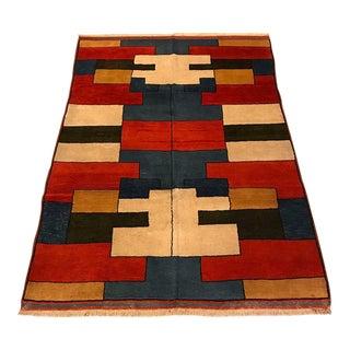 "Modern Anatolian Handmade Rug - 4'5"" x 6'1"""