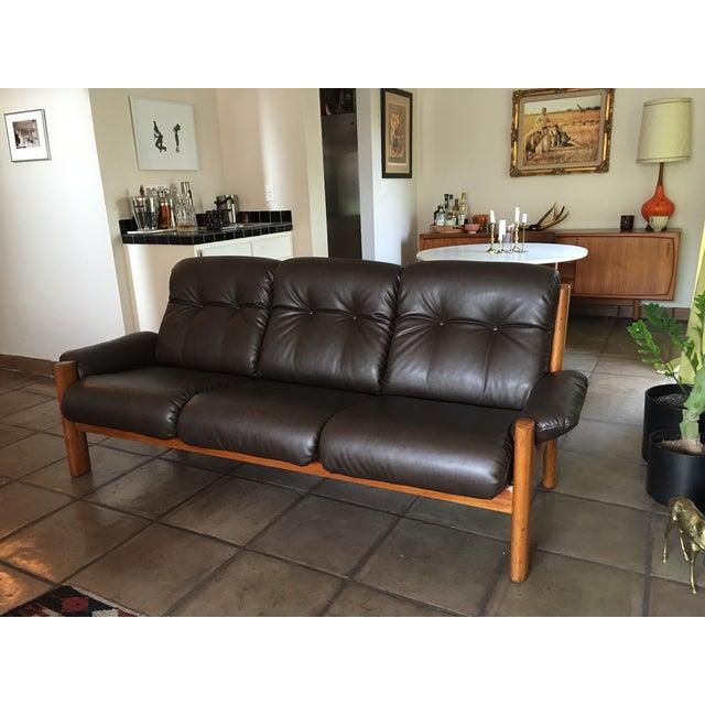 "Image of Vintage Ekornes ""Montana"" Solid Teak Sofa"