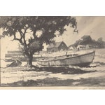 Image of Old Boats Never Die Lithograph by Gordon Grant