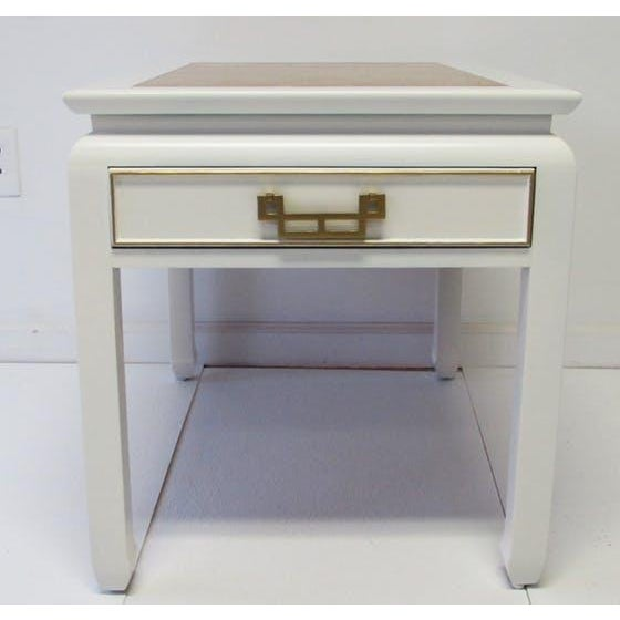 Century Burl-Wood & Lacquered Side Table - Image 2 of 6