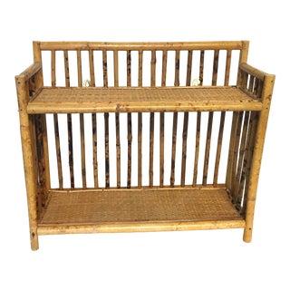Vintage Bamboo Rattan Shelf