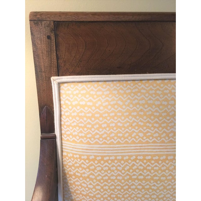 French Fortuny Upholstered Bench - Image 5 of 9