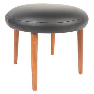 Danish Modern Round Ottoman