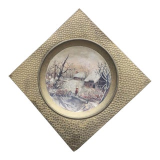 Hanging Brass Tray Painting