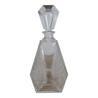 Vintage Angular Cut Glass Decanter