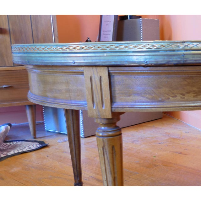 Old Marble Top Coffee Table: Vintage Marble Top Coffee Table