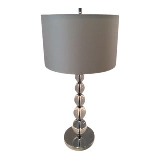 Contemporary Crystal Ball Table Lamp