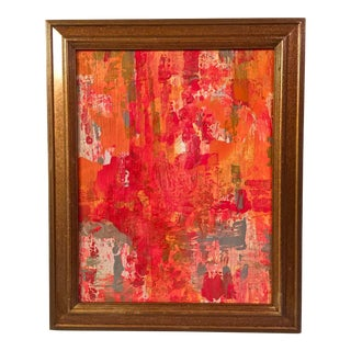 Abstract Red & Orange Painting