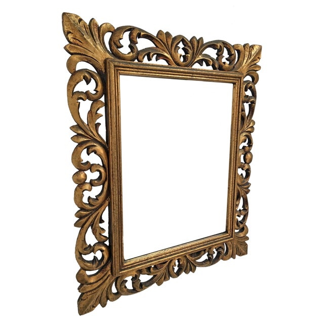 Italian Carved Wood & Gilt Mirror - Image 3 of 7