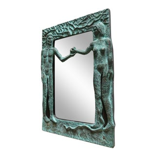 "Sculptural ""Adam & Eve"" Mirror by Pal Kepenyes"