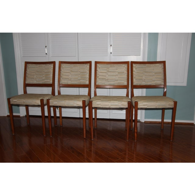 Svegards Markaryd Mid-Century Solid Teak Dining Chairs - Set of 4 - Image 2 of 5