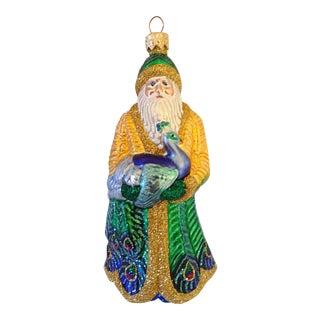 Patricia Breen Peacock & Santa Ornament