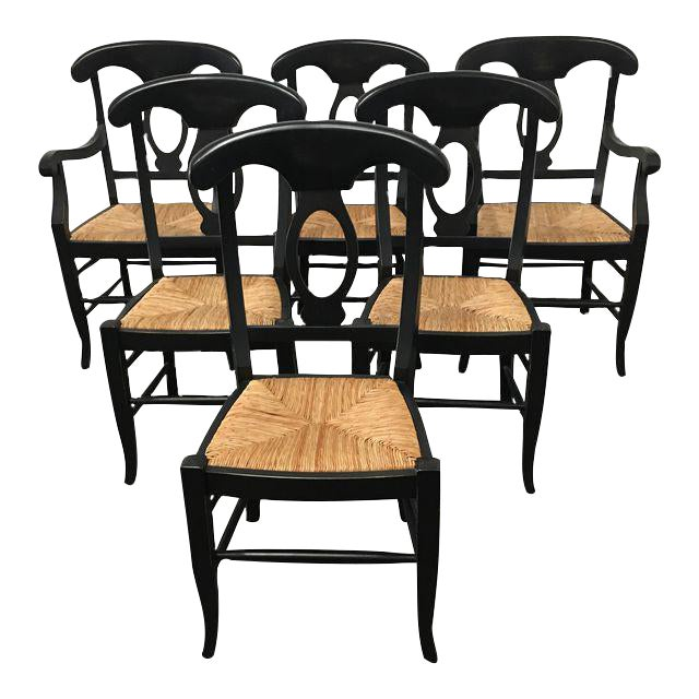 Pottery Barn Napoleon Dining Chairs - Set of 6 - Image 1 of 9