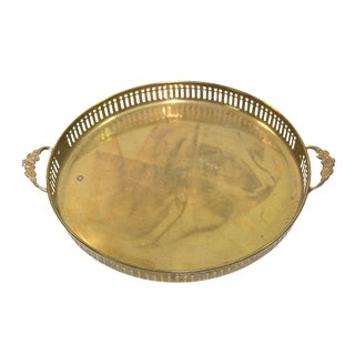 Vintage Round Brass Tray