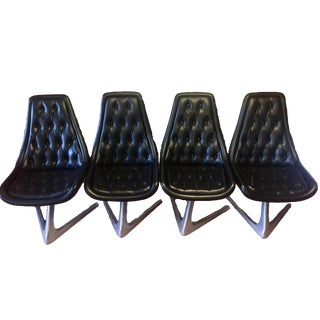 Chromcraft Sculpta Star Trek Chairs - Set of 4