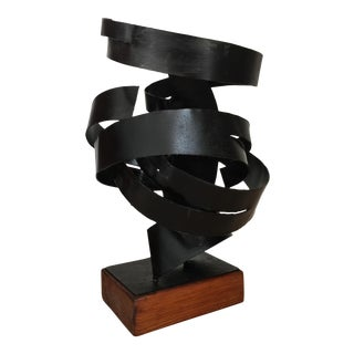Modernist Black Iron Sculpture
