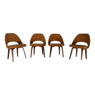 Eero Saarinen for Knoll Bentwood Side Chairs- Set of 4