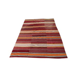 Antique Turkish Nomadic Kilim - 5′9″ × 8′8″