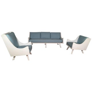 Stylish Three-Piece Porch or Living Room Furniture Set