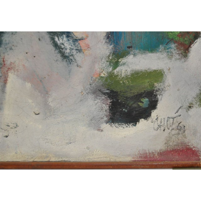 Image of Vintage 1960's Abstract Painting
