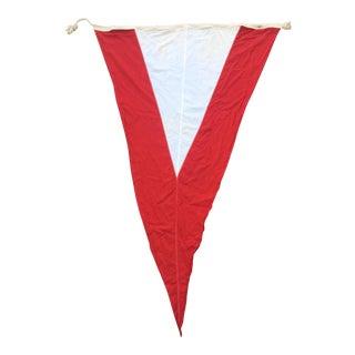 Vintage Cotton Nautical Signal Flag Pennant