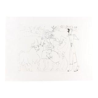 """Pablo Picasso """"Cavalier Picador Dans L'Arene"""" Lithograph"""