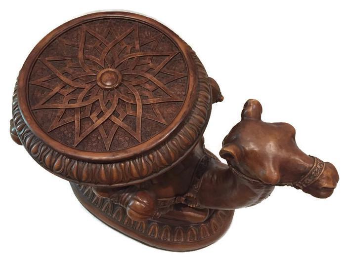 Moroccan Camel End Table Or Garden Stool Chairish