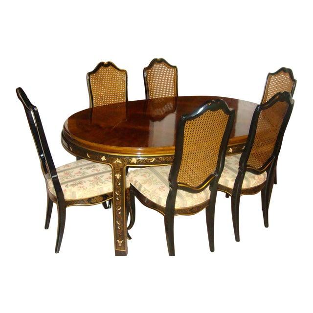 Drexel Cane Back Dining Set - Set Of 6