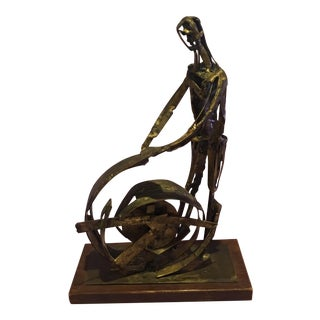 Pricilla Pattison Brutalist Bronze Sculpture