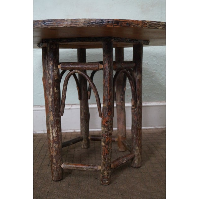 Old Hickory Rustic Tree Form, Round Dining Table - Image 3 of 10